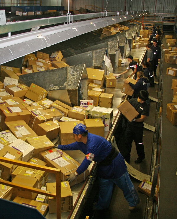 Sorting in Anchorage FedEx Facility