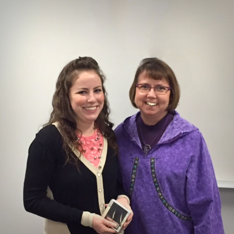 Amanda Sagmoen and Professor Sharon Lind