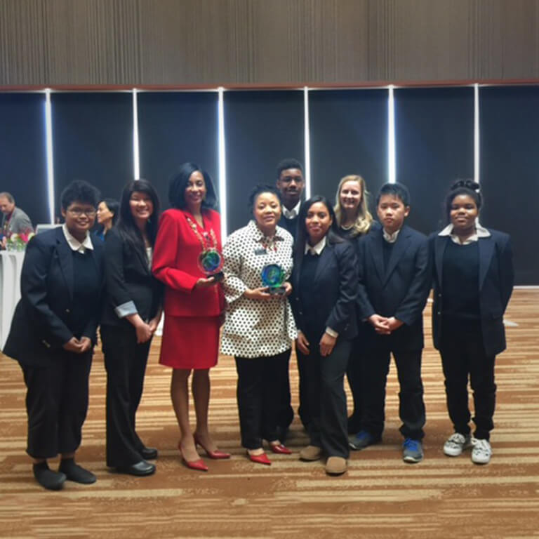 Clark Middle School Principal Cessilye Williams and CBPP Professor Terry Nelson received a Spirit of Tomorrow Award from the Anchorage School District for their Leadership Fellows Juniors collaboration.