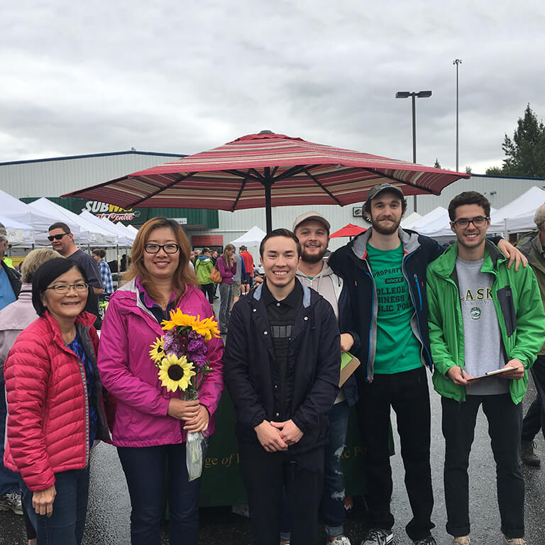Group at the South Anchorage Farmers Market in August